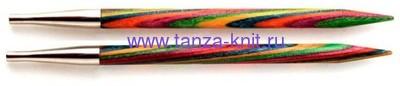 Lana Grossa Разъёмные спицы LG, разноцветное дерево, 8,5 см, № 4