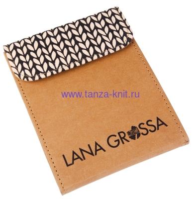 Lana Grossa Набор LG крючков Signal, с цветной деревянной ручкой, замша бежевый (фото, вид 1)