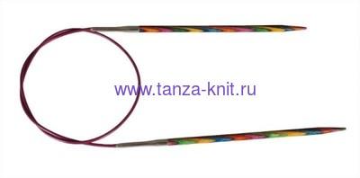 Lana Grossa Спицы круговые LG DESAIGN-HOLZ (разноцветные), длина 80, № 3.5