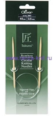 CLOVER Спицы круговые Takumi, бамбук, 40 см № 3,5