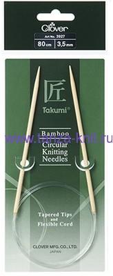CLOVER Спицы круговые Takumi, бамбук, 80 см № 3.5